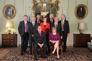 Nicola Sturgeon - Sturgeon (front right) with Alex Salmond and the rest of the Scottish Government cabinet following election in 2011
