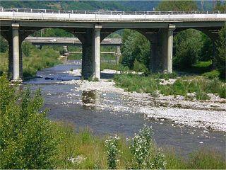 Scrivia river in Italy