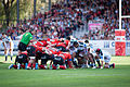 Scrum - US Oyonnax vs. Stade français, 30th August 2014.jpg
