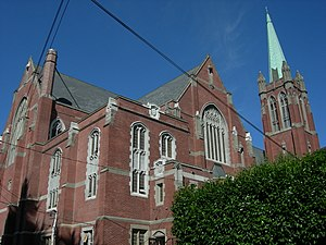 Blessed Sacrament Church (Seattle) - View from 8th Ave NE