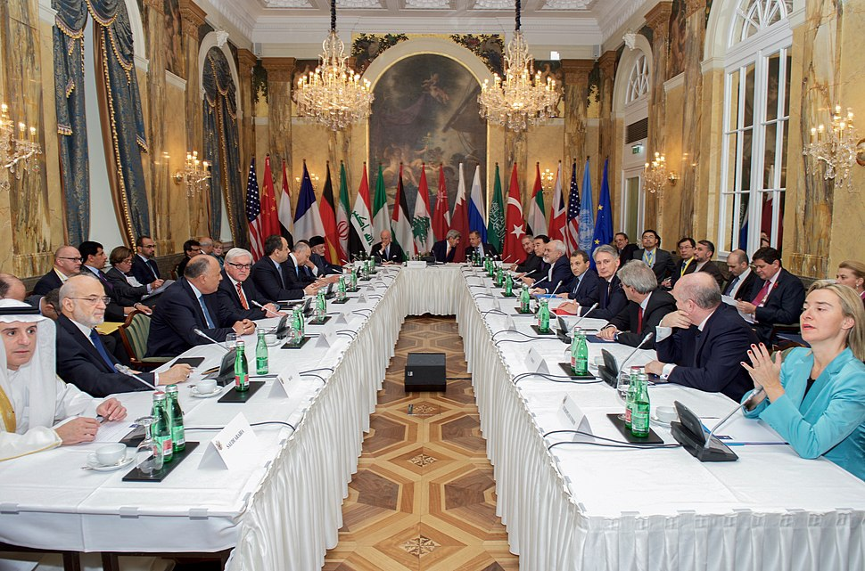 Secretary Kerry Sits With Fellow Foreign Ministers Before Group Discussion in Austria About Syria (22573995626)