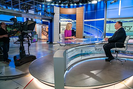 MacCallum interviewing Secretary of State Mike Pompeo in October 2019 Secretary Pompeo Speaks with Martha MacCallum (48988547112).jpg
