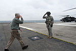 Secretary of Defense Chuck Hagel, left, salutes the crew chief of a U.S. Army UH-60 Black Hawk helicopter in Tokyo Oct. 4, 2013 131004-D-BW835-800.jpg