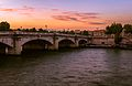 Seine sunset, Paris August 2013.jpg