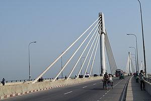 Shah Amanat Bridge - Image: Shah Amanat Bridge, Karnaphuli River