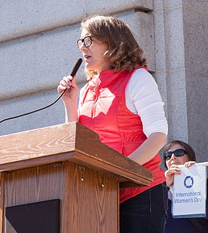GrabYourWallet - GrabYourWallet founder Shannon Coulter speaks at Day Without a Woman San Francisco, March 2017.