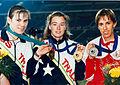 Sharon Rackham and Lisa LLorens at the Atlanta 1996 Paralympic Games.jpg