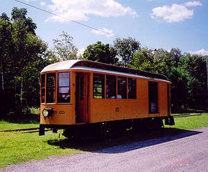 Shelburne Falls Trolley Museum - Image: Shelburne Falls and Colrain Street Railway car 10