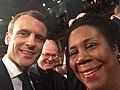 Shelia Jackson Lee and Emmanuel Macron at the U.S. Capitol.jpg