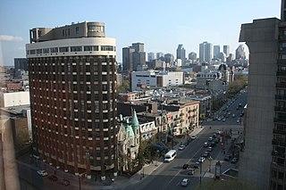 Sherbrooke Street thoroughfare in Montreal, Canada