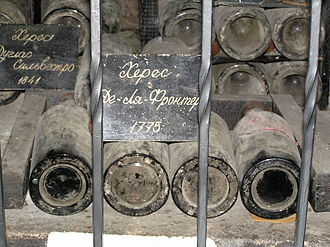 Sherry - Sherry de la Frontera of 1775 – the oldest wine in Massandra winery collection, Crimea