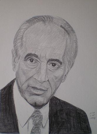 Chaim Topol - Shimon Peres by Topol