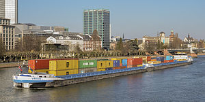 Ship VRIDO II on the river Main in Frankfurt Germany - 01.jpg