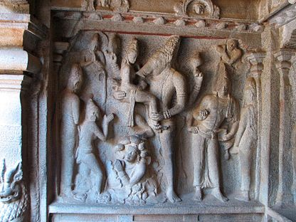 Shore Temple, Relief carvings 02 (2281609094).jpg