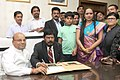 Shri Ramdas Athawale takes charge as Minister of State for Social Justice & Empowerment, in the presence of the Union Minister for Social Justice and Empowerment, Shri Thaawar Chand Gehlot, in New Delhi on July 06, 2016.jpg