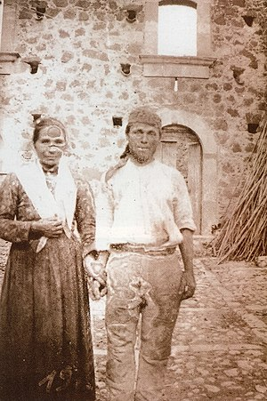 Giovanni Verga - Photo by Verga of Sicilian couple who worked his property in 1897.