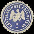 Siegelmarke 1. Battr. Reserve-Fuss-Artillerie Regiments 10 W0348277.jpg