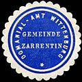 Siegelmarke Domanial - Amt Wittenburg - Gemeinde Zarrentin W0226271.jpg