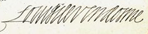 Louis, Duke of Vendôme - Image: Signature of Louis de Vendôme, Duke of Vendôme