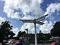 Signpost at junction with Fairwater Road, Fairwater, August 2019 01.jpg