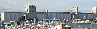Port of Quebec - Grain Elevator on the Louise Bassin.