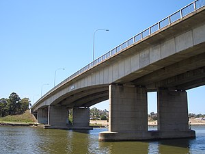 Silverwater Bridge - Silverwater Bridge as it crosses the Parramtta River in 2007