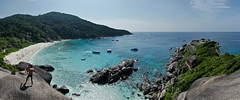 "Panorama from Ko Similan over the ""Ao Kuerk"" b..."