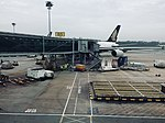 Singapore Airlines A380-841 parked at Singapore Changi Airport.jpg