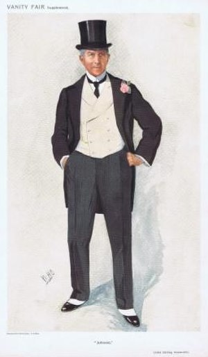 "Sir John Ainsworth, 1st Baronet - Sir John Ainsworth caricatured by ""WHO"" in Vanity Fair, 1910"