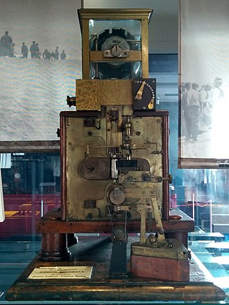William Thomson, 1st Baron Kelvin - Sir William Thomson's telegraphic syphon recorder, on display at Porthcurno Telegraph Museum, in January 2019.