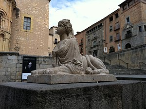 Español: Escultura de sirena en Segovia, en la...