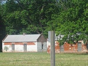 Magnolia Plantation (Derry, Louisiana) - Slave quarters at Magnolia Plantation near Derry, Louisiana