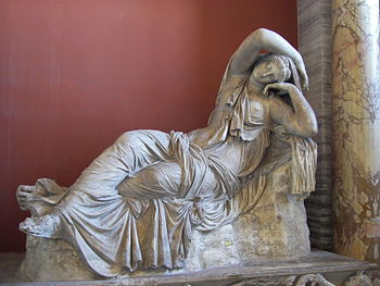 Statue of Sleeping Ariadne in the Vatican Museums.