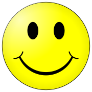 "The smiley has gone through many incarnations over the years, but it consistently retains the same features. (""Kolobok"" type)"