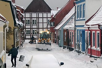Snowplow - Snowplows in Sweden / Ystad 2018.