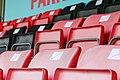 Social distancing seat markings at the Dripping Pan Lewes FC Women v London Bees 30 08 2020 pre season-41 (50289591996).jpg