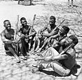 Soldiers of the King's African Rifles (KAR) during the British advance into Italian Somaliland, 13 February 1941. E1968.jpg