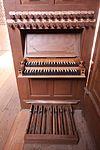 Solms - Kloster Altenberg - ev Kirche - Orgel - Spieltisch 1.JPG