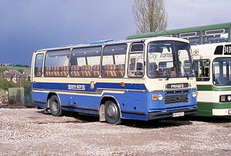 Bristol LH - An LHS coach with Plaxton Supreme V body