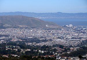 South San Francisco, California - South San Francisco as viewed from a nearby ridge