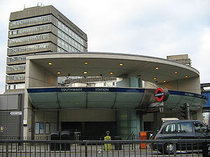 Southwark tube station - Entrance on The Cut