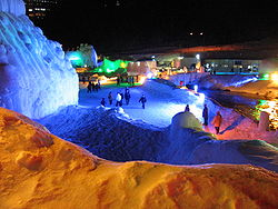 Soun Gorge Icide Festival, one of famous for winter festival in Hokkaido