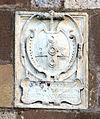 Sovicille, pieve di ponte allo spino, facciata 04 stemma ascanio I piccolomini.JPG