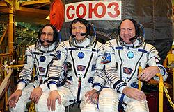 Donald Pettit, Oleg Kononenko und André Kuipers