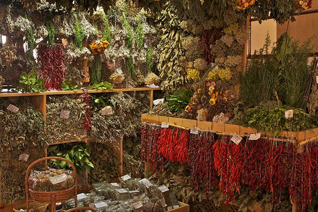 Obchod s liečivými bylinami na Madeire