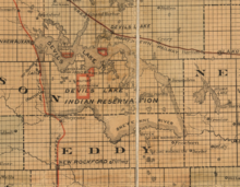 1892 Map of Spirit Lake Reservation