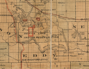 United States v. Lara - 1892 Map of Spirit Lake Reservation, then known as Devil's Lake Reservation