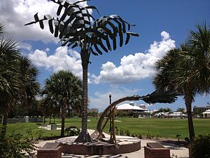 "Punta Gorda, Florida - ""Spirit of Punta Gorda"" monument commemorating the landfall of Hurricane Charley"
