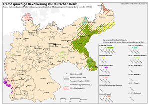 percentage of linguistic minorities of the german empire in 1900 by kreis