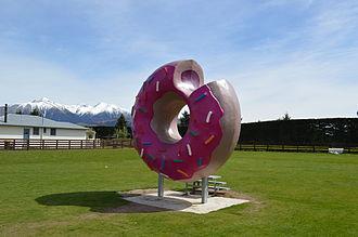 Springfield, New Zealand - Image: Springfield NZ Donut 002
